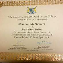"""Shannon Hill McNamara"" ""Rice University"" ""Community service award"""