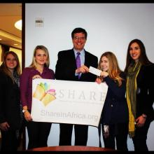 """Heffernan Insurance Brokers donated to """"SHARE in Africa"""" to aid with girls education in Tanzania"""