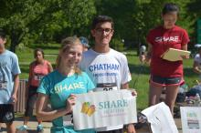first overall male and female runners