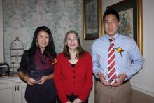 Tiffany Chen, Diane Ashton, Robert Ju at YMCA Volunteer Awards Night