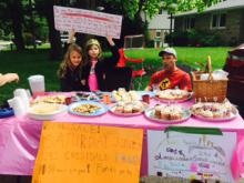 Jade and Maci bakesale fundraiser for girls education in Africa