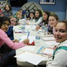 """Girl Scouts chose to help """"SHARE in Africa"""" by writing to the girls in Tanzania"""