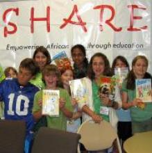 """Liberty Corner Church gathered school supplies for the girls in Tanzania and """"SHARE in Africa"""""""