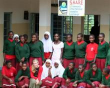 """""""SHARE in Africa"""" helped create the first library at Kagemu School in Tanzania to aid girls education"""